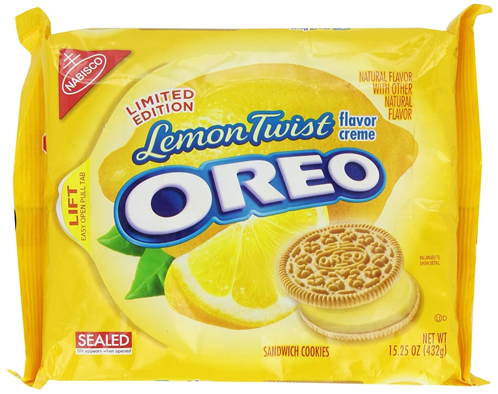 Oreo Lemon Twist Sandwich Cookies 15.25oz