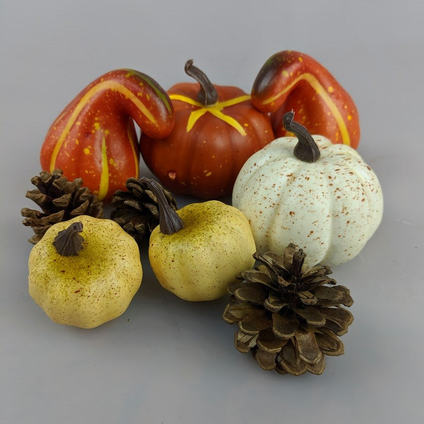 Thanksgiving Pumpkin & Pinecone 9pc Set