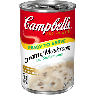 Campbell's Ready to Serve Low Sodium Cream of Mushroom Soup