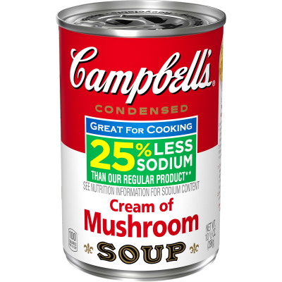 Campbell's Condensed 25% Less Sodium Cream of Mushroom Soup