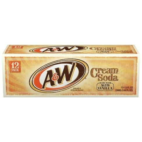A&W Diet Cream Soda 12 Pack