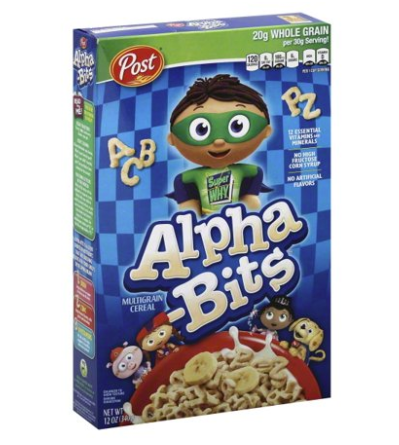 Alpha-Bits Cereal 12oz