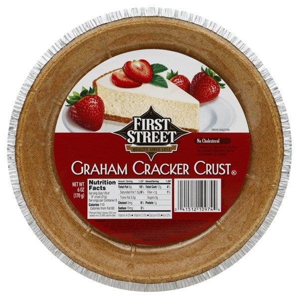 First Street Graham Cracker Crust 6oz (9 inch)