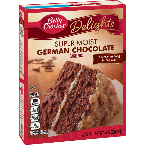 Betty Crocker Super Moist Delights German Chocolate Cake Mix 15.25oz