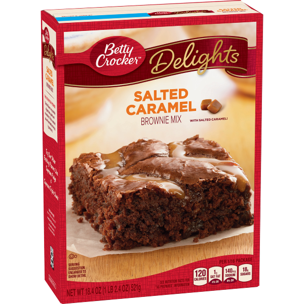Betty Crocker Salted Caramel Brownie Mix