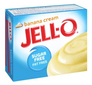 Jell-O Instant Sugar & Fat Free Banana Cream  Pudding Mix