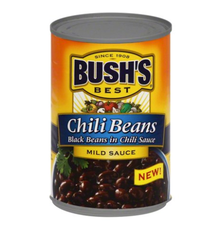 Bush's Mild Black Chili Beans 15.5oz