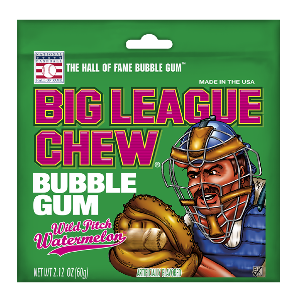 Big League Chew Wild Pitch Watermelon Bubble Gum
