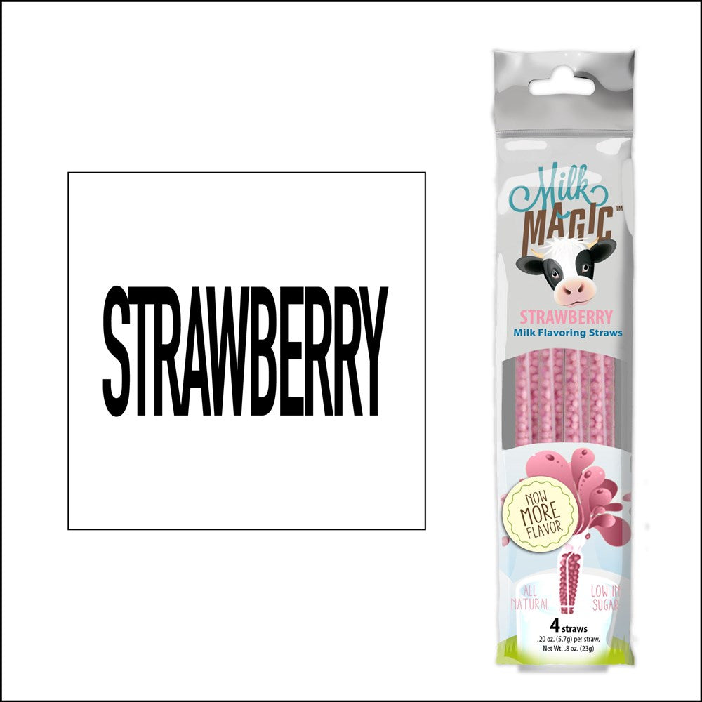 Milk Magic Strawberry Milk Flavouring Straws 4ct