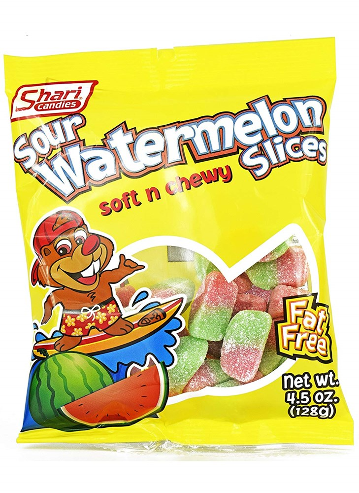 Sour Watermelon Slices 4.5oz