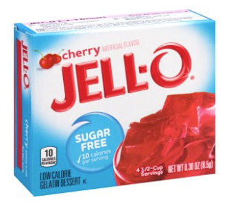 Jell-O Sugar Free Cherry Gelatin Mix 0.3oz
