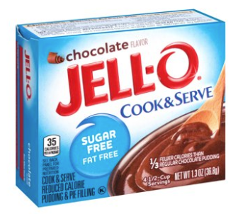 Jell-O Cook & Serve Sugar & Fat Free Chocolate Pudding 1.3oz