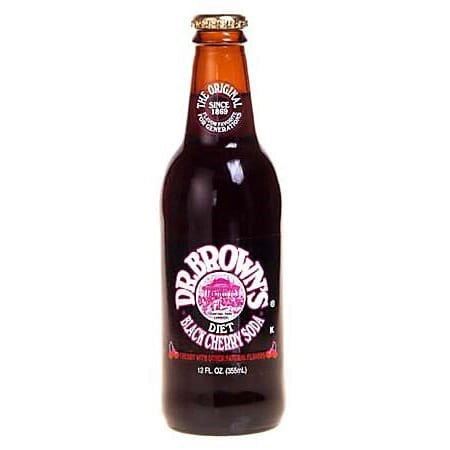 Dr Brown's Diet Black Cherry Soda 12oz