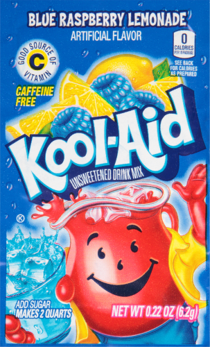 Kool Aid Blue Raspberry Lemonade Unsweetened Drink Mix