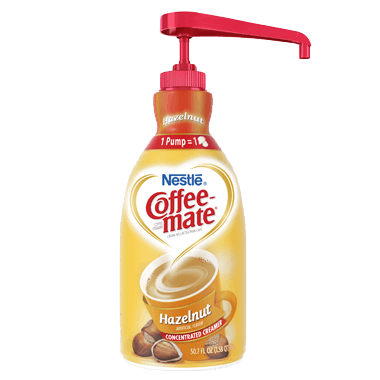 Coffee-Mate Hazelnut Liquid Creamer Concentrate Pump Bottle