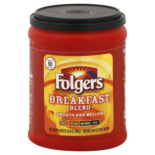 Folgers Mild Breakfast Blend Ground Coffee