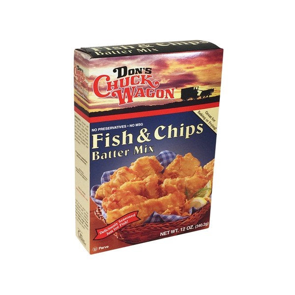 Don's Chuck Wagon Fish & Chips Batter Mix 12oz