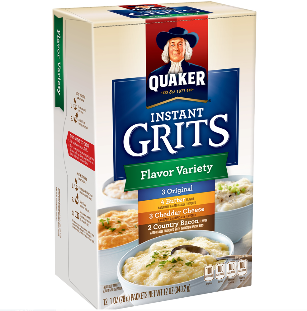 Quaker Instant Grits Flavor Variety Pack 12oz