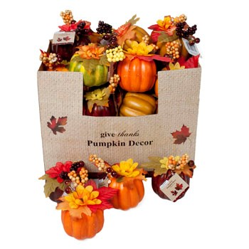 Pumpkin Flower Table Decor