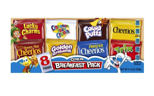 Assorted Breakfast Cereals 9.14oz