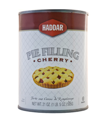 Haddar Cherry Pie Filling 21oz