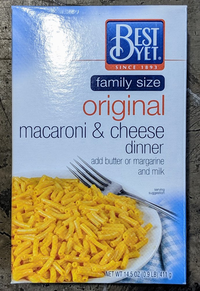 Best Yet Macaroni & Cheese 14.5oz