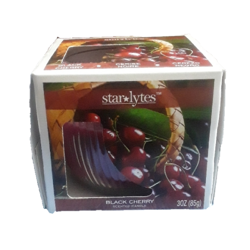 Starlytes Black Cherry Scented Candle 3oz