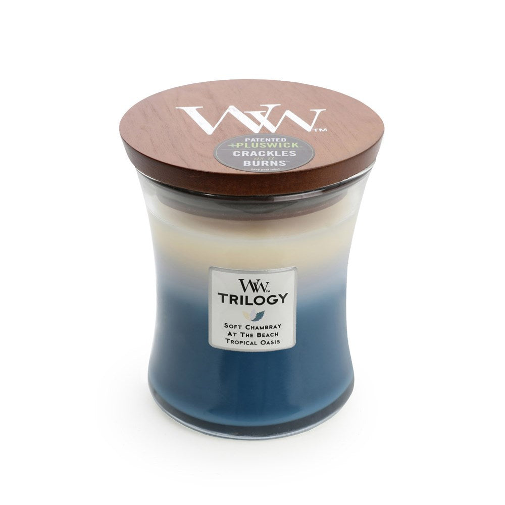 WoodWick Beachfront Cottage Trilogy Candle  Medium