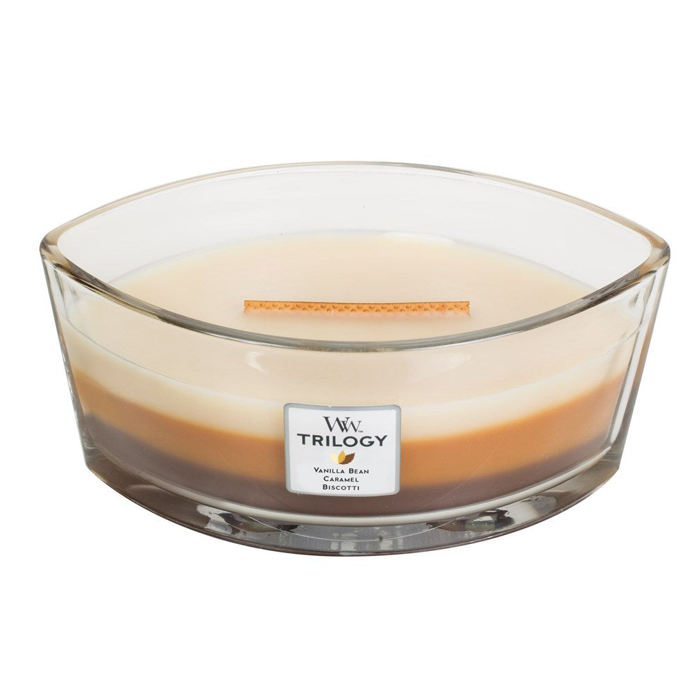 WoodWick Cafe Sweets Trilogy Candle Hearthwick