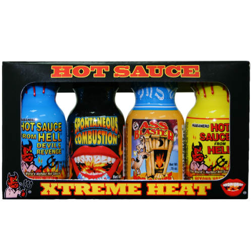 Ass Kickin' Xtreme Hot Sauce Minis 4 Pack