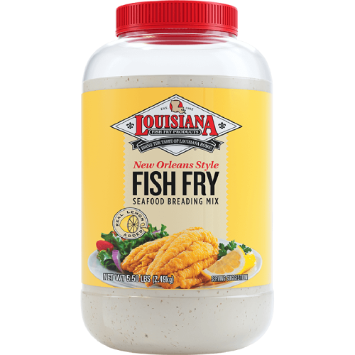 Louisiana New Orleans Style Lemon Fish Fry Seafood Breading Mix