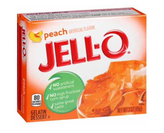 Jell-O Peach Gelatin Mix 3oz