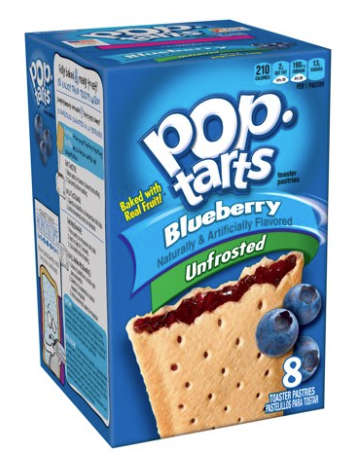 Pop Tarts Un-Frosted 8ct