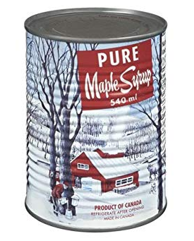 Pure Organic Canadian Maple Syrup Can 540ml