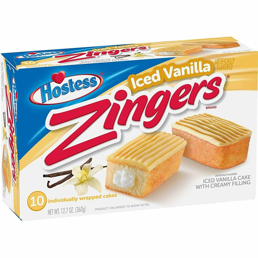 Hostess Iced Vanilla Zingers