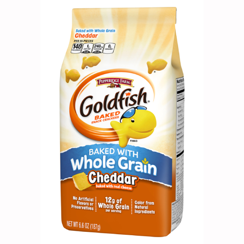 Goldfish Whole Grain Cheddar Baked Snack Crackers