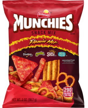 Munchies Flamin' Hot Snack Mix 2oz