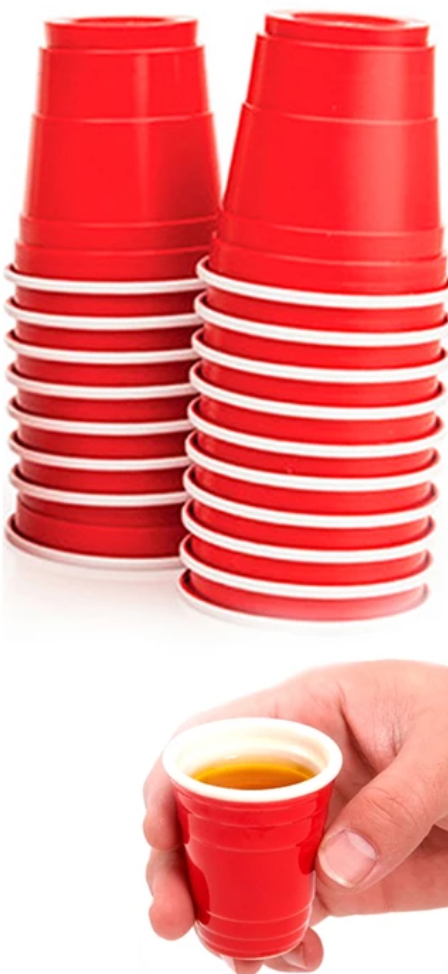 Mini Red Party Cups 20ct