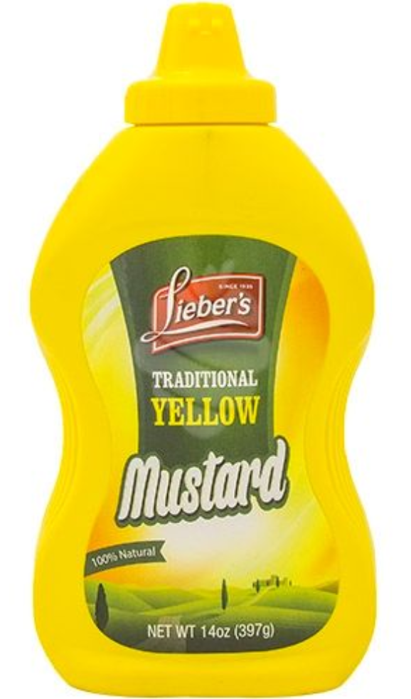 Lieber's Traditional Yellow Mustard 9oz