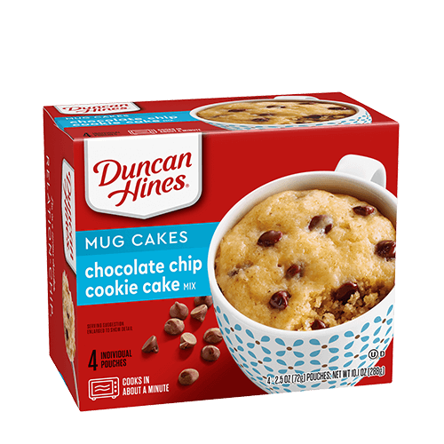 Duncan Hines Chocolate Chip Cookie Cake Mix Mug Cake