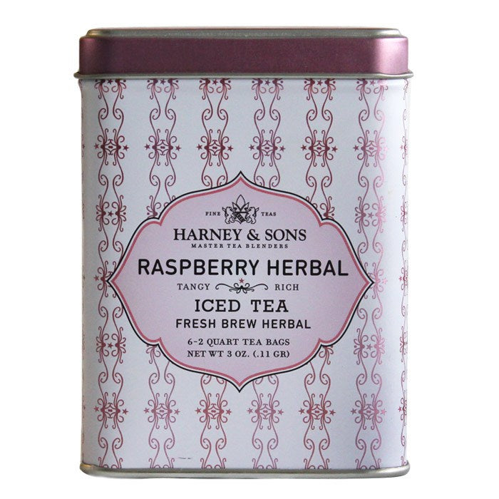 Harney & Sons Raspberry Iced Tea Tin 6ct