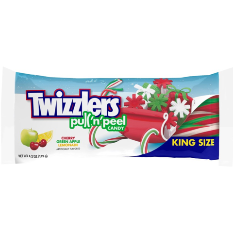 Twizzlers Christmas Pull n Peel King Size 4.2oz [Local Delivery + C&C Only]