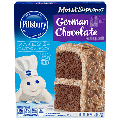Pillsbury Moist Supreme German Chocolate Flavored Premium Cake Mix