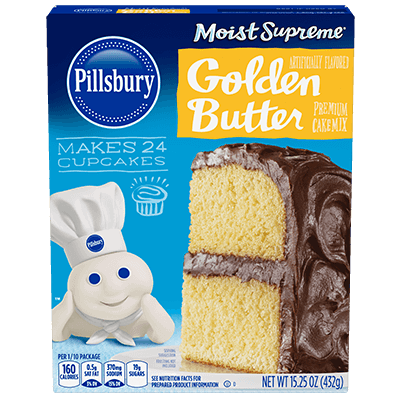 Pillsbury Moist Supreme Golden Butter Recipe Flavored Premium Cake Mix