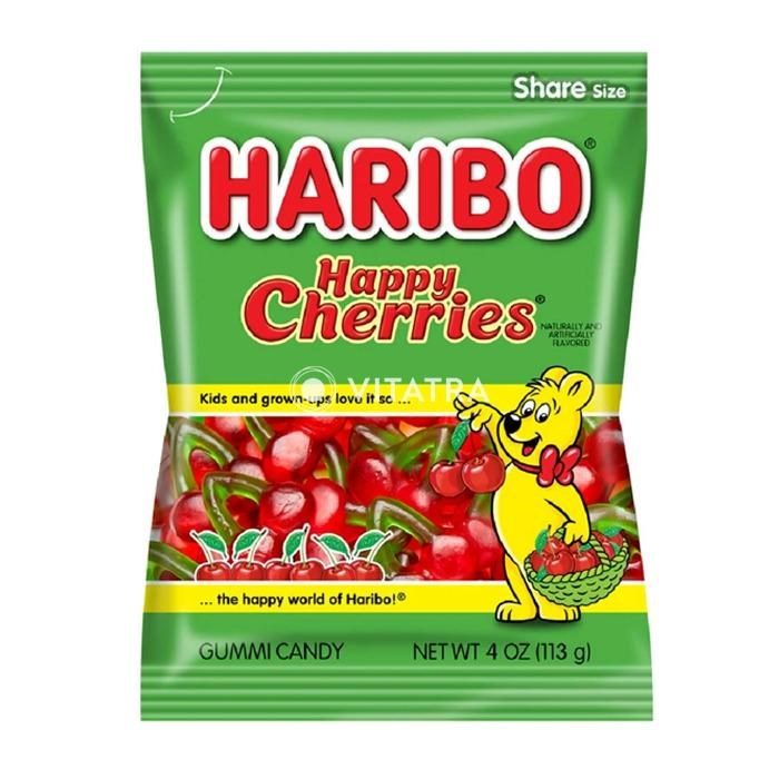 Haribo Happy Cherries Gummi Candy 4oz
