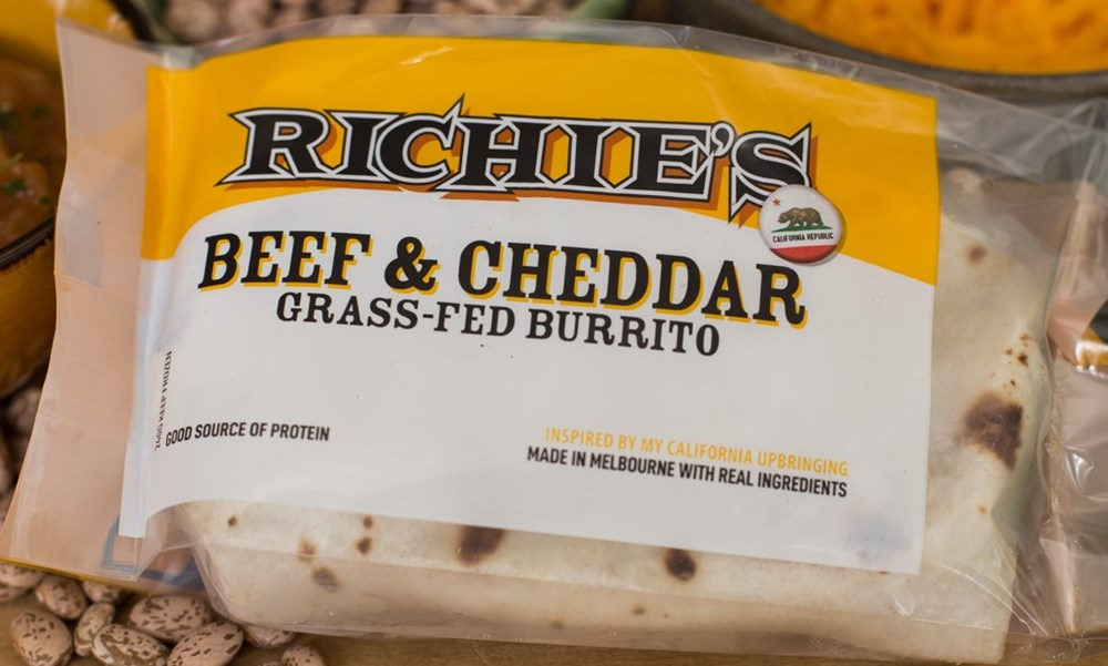 Richie's Beef & Cheddar Grass Fed Burrito [Pick Up ONLY]