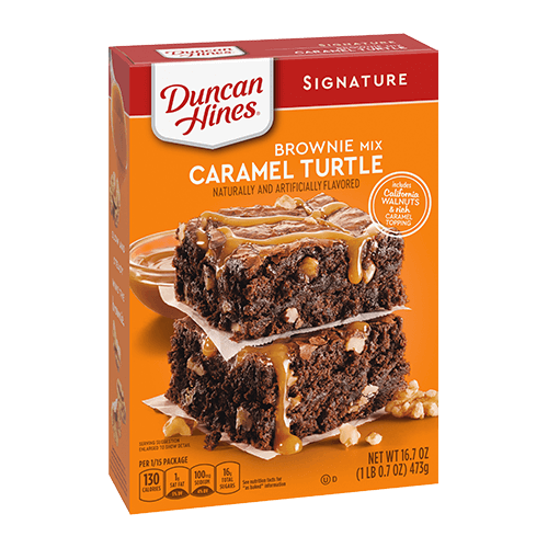 Duncan Hines Signature Caramel Turtle  Brownie Mix 16.7oz