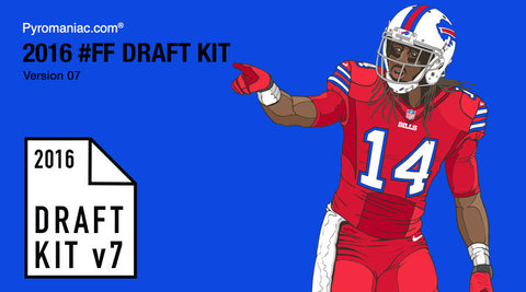 2016 Fantasy Football Draft Kit v7 by Pyromaniac.com (09/01/16)