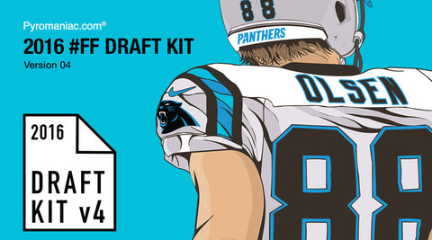 2016 Fantasy Football Draft Kit v4 by Pyromaniac.com (06/22/16)
