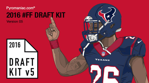 2016 Fantasy Football Draft Kit v5 by Pyromaniac.com (07/22/16)